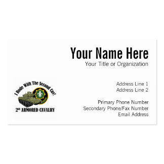 I Rode With The 2nd Cav! - 2nd ACR M551 Double-Sided Standard Business Cards (Pack Of 100)