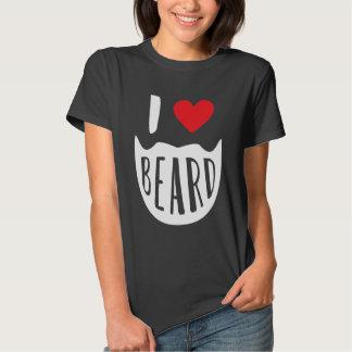 I rojo blanco de la barba del corazón camisas