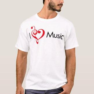 I rojo de la música del corazón playera