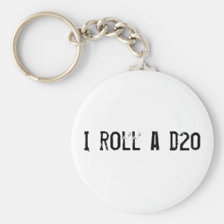 I roll a d20 - keychain