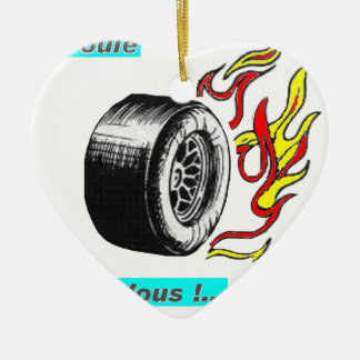 I ROLL FOR VOUS.png Ceramic Ornament