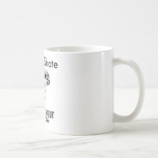 I rollerskate what's your super power classic white coffee mug