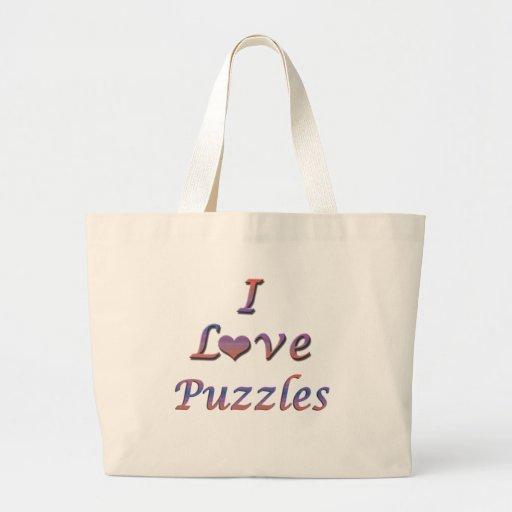 I rompecabezas del corazón (amor) bolsas