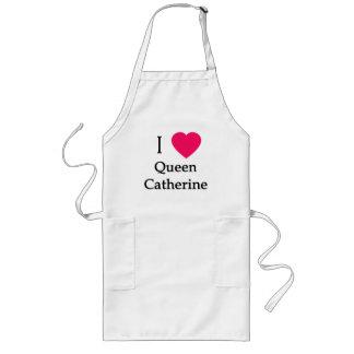 I ropa de la reina Catherine del corazón, botones, Delantal Largo