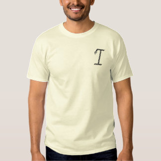 """""""I"""" Rope Alphabet 2.5"""" Embroidered T-Shirt"""