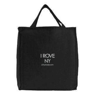 I ROVE NY Embroidered Tote Bag