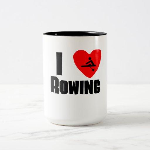I Rowing del corazón Tazas