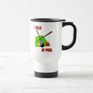 I Rule at Pool Travel Mug