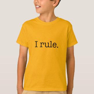 I rule KID TEE (black font)