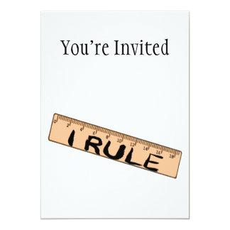 I Rule Ruler Card