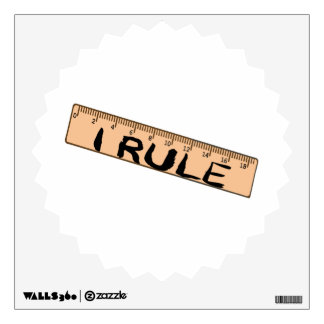 I Rule Ruler Wall Decal