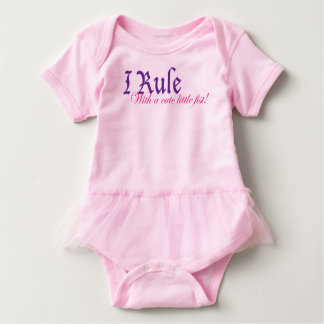 I Rule With a Cute Little Fist Infant Onesie
