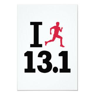 I run 13.1 miles half marathon custom invitations