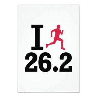 I run 26.2 miles marathon custom invites