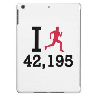I run 42,195 kilometers marathon cover for iPad air