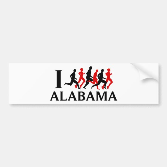 I RUN ALABAMA BUMPER STICKER