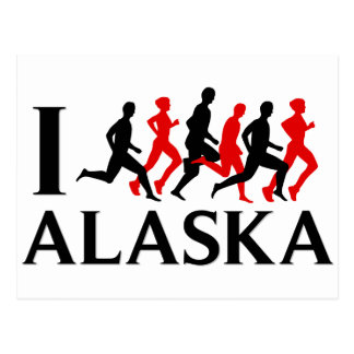 I RUN ALASKA POSTCARD