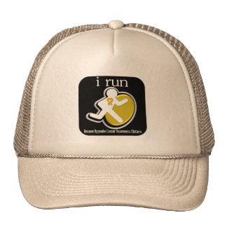 i Run Because Appendix Cancer Matters Mesh Hat