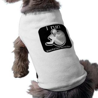 i Run Because Brain Cancer Matters Doggie Shirt