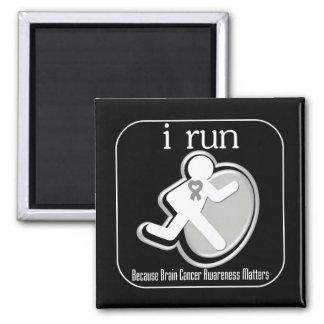 i Run Because Brain Cancer Matters Fridge Magnets