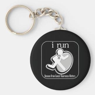 i Run Because Brain Cancer Matters Key Chain