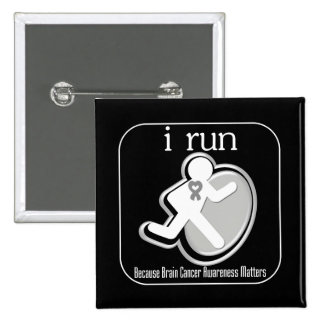 i Run Because Brain Cancer Matters Pinback Buttons