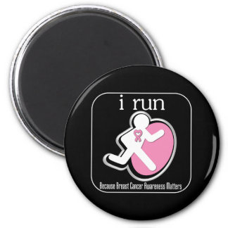 i Run Because Breast Cancer Matters 2 Refrigerator Magnets