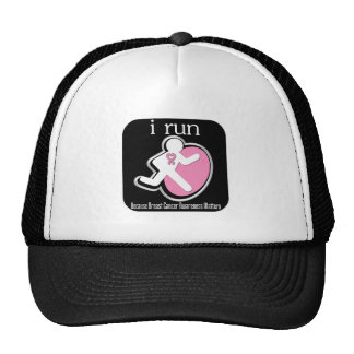 i Run Because Breast Cancer Matters 2 Mesh Hats