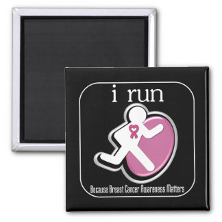 i Run Because Breast Cancer Matters Magnets