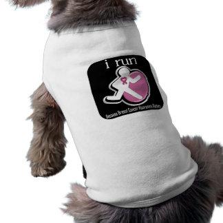 i Run Because Breast Cancer Matters Pet Tee Shirt