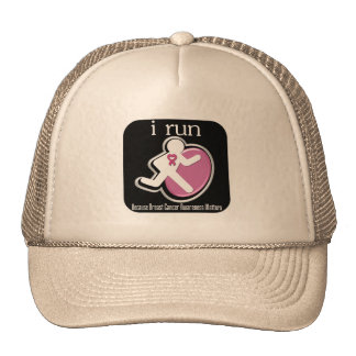 i Run Because Breast Cancer Matters Trucker Hats