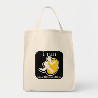 i Run Because COPD Awareness Matters Canvas Bags