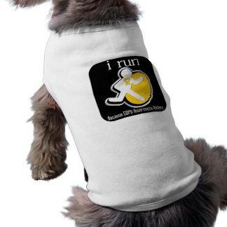 i Run Because COPD Awareness Matters Dog Tee Shirt