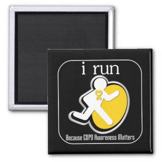 i Run Because COPD Awareness Matters Refrigerator Magnets