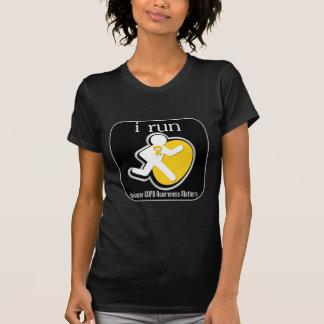 i Run Because COPD Awareness Matters T Shirts