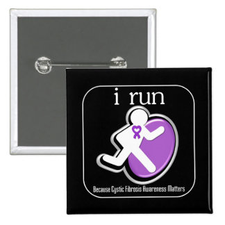 i Run Because Cystic Fibrosis Matters Buttons