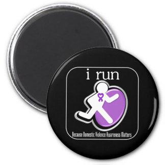 i Run Because Domestic Violence Awareness Matters Refrigerator Magnets