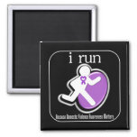i Run Because Domestic Violence Awareness Matters Magnets