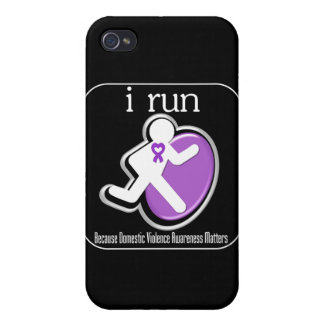 i Run Because Domestic Violence Awareness Mers iPhone 4 Cases
