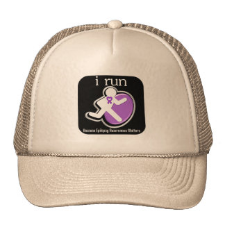 i Run Because Epilepsy Matters Trucker Hats