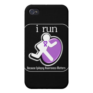 i Run Because Epilepsy Matters iPhone 4/4S Covers