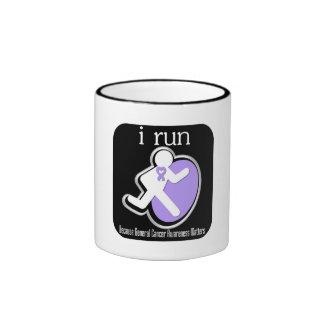 i Run Because General Cancer Matters Ringer Coffee Mug