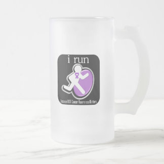 i Run Because GIST Cancer Matters 16 Oz Frosted Glass Beer Mug