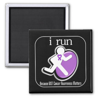 i Run Because GIST Cancer Matters 2 Inch Square Magnet