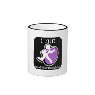 i Run Because GIST Cancer Matters Ringer Coffee Mug