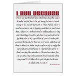I Run Because - Good Luck Card