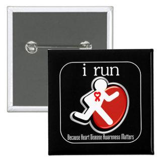 i Run Because Heart Disease Matters Pins