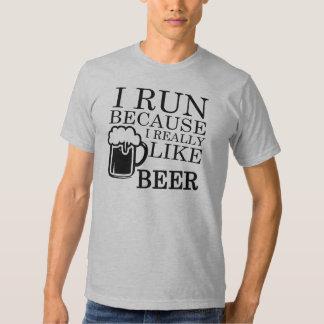 I Run Because I really like Beer Funny shirt