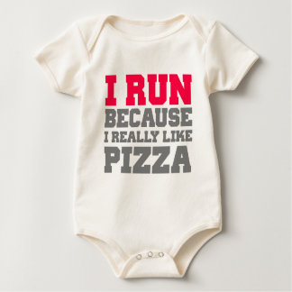 I RUN BECAUSE I REALLY LIKE PIZZA workout gym tank