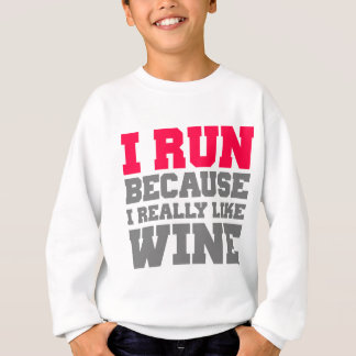 I RUN BECAUSE I REALLY LIKE WINE wod exercise tank